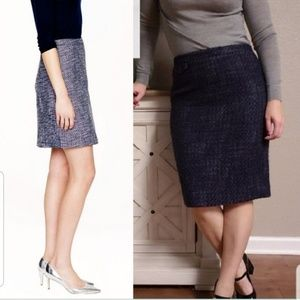 J. Crew The Pencil Skirt in Tweed